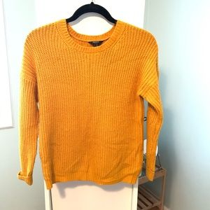 Apricot orange cable knit sweater from forever 21